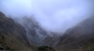 La niebla y todo el misticismo que pueda despertar con una tormenta.
