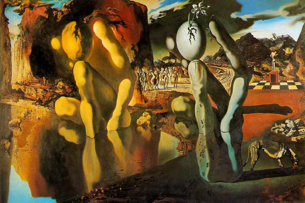 Salvador Dalí, Metamorfosis de Narciso, 1937