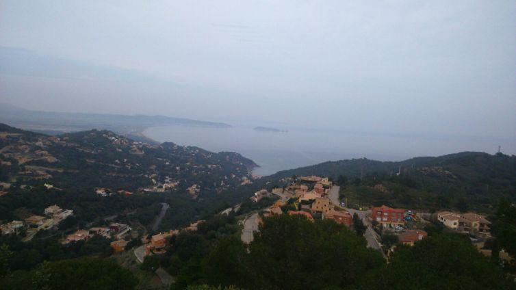 Vista del Mediterráneo desde Begur.