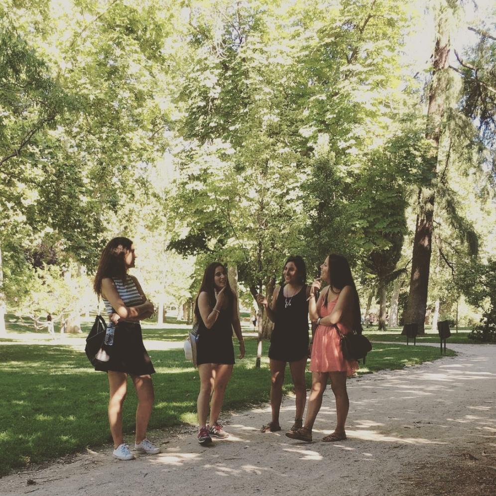 Madrid con ellas.