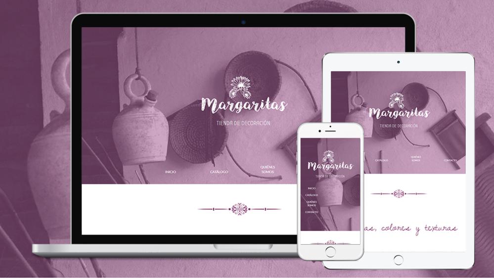 Diseño y Maquetado WEB - Margaritas Decó